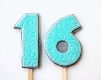 Large Fondant Number Cake Topper - Fondant Number - 3D Fondant Numbers - Number Cake Topper