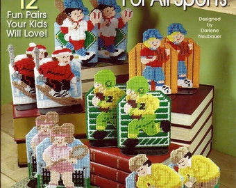 Bookends For All Sports Plastic Canvas Pattern Book The Needlecraft Shop 844172