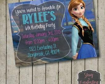 Frozen Anna Birthday Invitation - Disney's Frozen - Princess Anna - Digital File - DIY - Printable Invitation