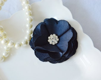 Blue Navy Hair Clip. Girls Hair Clip. Flower Girls. Hair Accessories. Wedding Hair Clip. Bridesmaid Hair flower