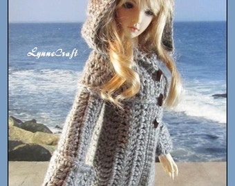 Crocheted Sweater Coat for your Limhwas, Elfdolls, and Other Similar Sized SD Dolls . .OOak