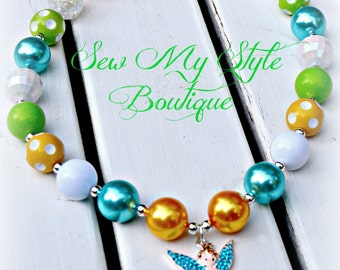 Fairy/ Chunky Bead Necjlace -Bubblegum Bead Necklace for girls