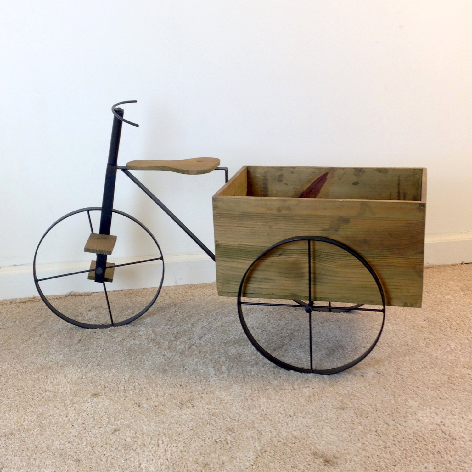 Vintage 32 Tricycle Planter With Large By Eamesinteriordesigns
