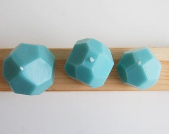 Geometric Handmade Candles, Set of 3 Faceted Candles, Modern Wedding Favors, Modern Home Decor, Unique Candles, Gift for Modern Home
