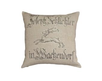 European Grain Sack Stag Cushion cover