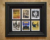 BRUCE SPRINGSTEEN - 6 miniature pictures in a frame (3 different sets of pictures/frames available)