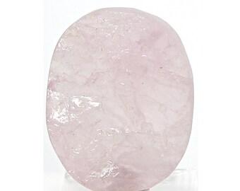 """Rose Pink Quartz Stone Oval Shape Cabochon Contour Surface """"Faux Druzy"""" Loose Unset Semi Precious Gem"""