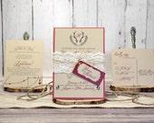 Rustic Wood Wedding Invit...