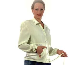Pistachio BLOUSON delicate blouse size large 90s