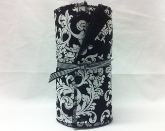 Unpaper towels, reusable paper towels, cloth paper towels, snapping paper towels - Black and White Elegance