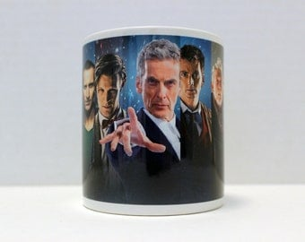 Doctor Who - The 13 Doctors - 11 ounce Ceramic Coffee Mug
