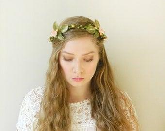 French Court Headpiece - Rustic Bride Hair Accessory - Woodland Wedding Crown
