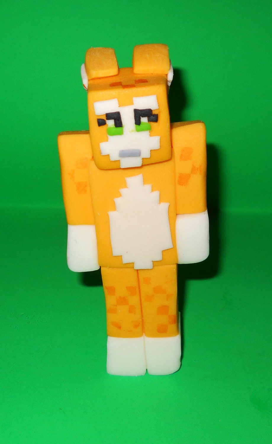 Cake Toppers Minecraft Uk : Stampy Cat Cake Topper inspired by Minecraft