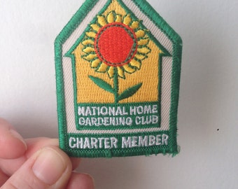 Vintage National Home Gardening Club Charter Member Patch