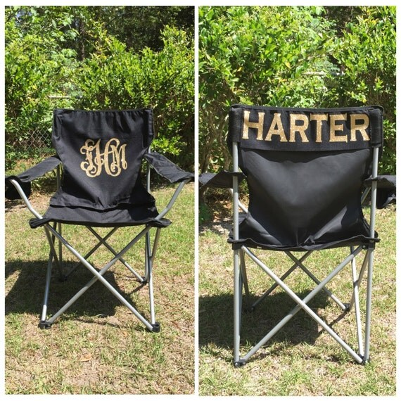 Monogrammed Camp Chair Beach Chair Personalized Folding