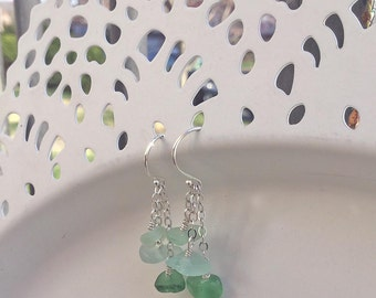 Droplet Beach Glass Earrings