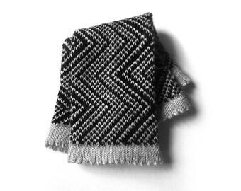 Alpaca wrist warmers, knit fingerless gloves, womens hand warmers