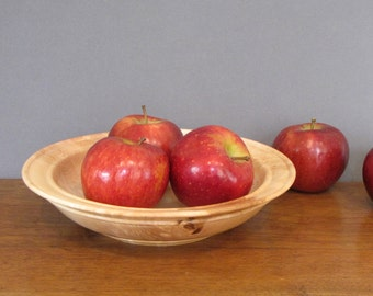 Wood bowl made from birdseye maple, centerpiece, decorative bowl, wood turning