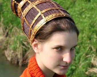 MADE TO ORDER - queen Padmé Amidala Naberrie senator headpiece headdress braids hairstyle star wars gold cosplay costume sci fi geek Naboo