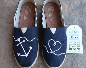 Anchor TOMS w/ Heart Shaped Rope
