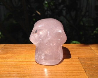 Beautiful Rose Quartz Skull - Cleansed under Full Moon -  130 grams
