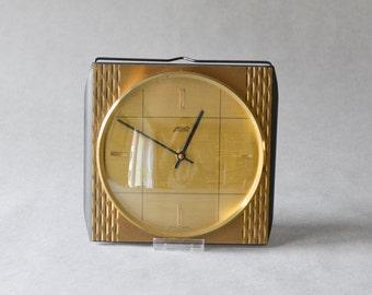 Vintage Atlanta Uhr Küchenuhr Messinguhr Wanduhr 60er Mid-Century Modern