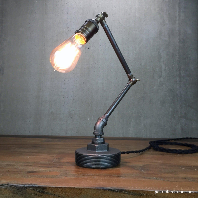 Industrial Table Lamp Articulating Light Task Light
