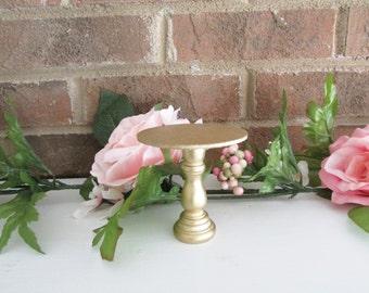 1 Metallic Gold Mini Cupcake Stand, Prop, Cake Smash, 1st Birthday, Baby Shower, Favors, Cake Pop Stand, Bridal Shower, Wedding, Dessert