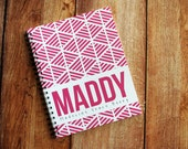 Baby Book - Modern Baby Book - Personalized Baby Book - Baby Memory Book - Tribal - Raspberry