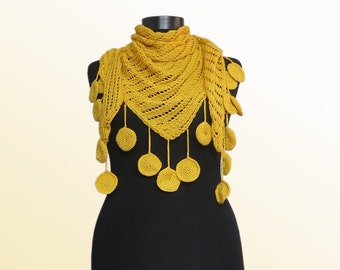 Scarf, Long Knit Scarf, Triangle Scarf Shawl, Knit Scarf,Hand Knitted Chunky Shawl, Scarf,Shawl, knitted