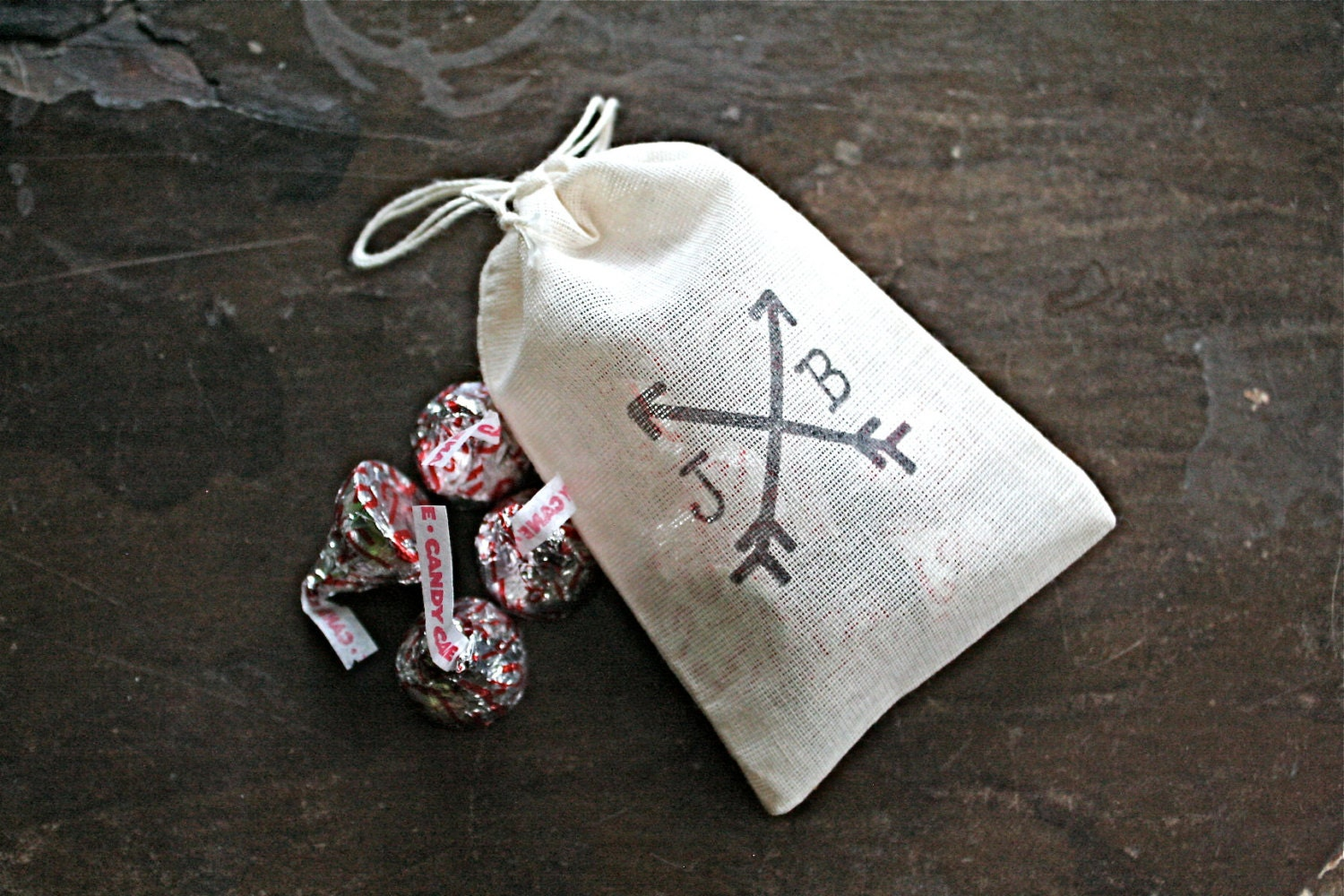 Personalized wedding favor bags 3x4.5. Set of 80 double