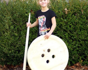 Button- 24 Inch Giant Wood Button - Huge Button - Big Button - Guest Book - Rustic Wedding Decoration - Two Foot Button