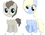 Mix and Match Magnets: Dr. Whooves, Derpy Hooves (My Little Pony FiM Set 6)