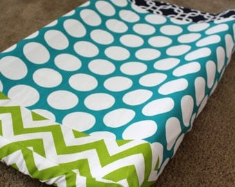 Custom Dual Fabric Changing Pad Cover