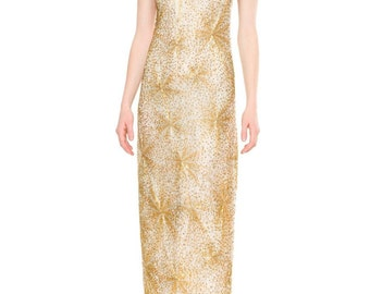 1970s Vintage Fully Beaded Halston Gown  Size: S/M