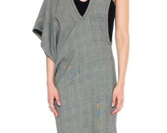 1980s Vintage Minimal Comme Des Garcon Asymmetrical Grey Dress  Size: S/M/L