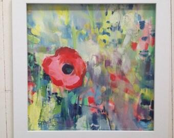 Poppy Honey 4-- The original art in frame