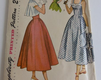 Vintage Simplicity Pattern 2861 Misses Size 14  Party Dress with Jacket