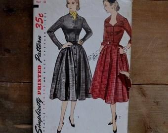 vintage 50's dress pattern, Simplicity 3693