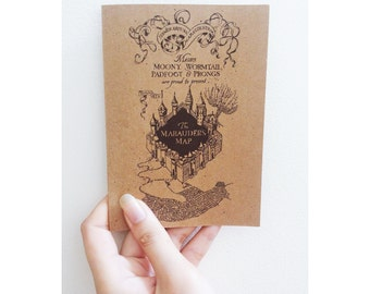 Harry Potter Marauder's Map Card