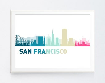 San Francisco Print, San Francisco Art, San Francisco Wall art, San Francisco Print Art, San Francisco Wall Print, INSTANT DOWNLOAD