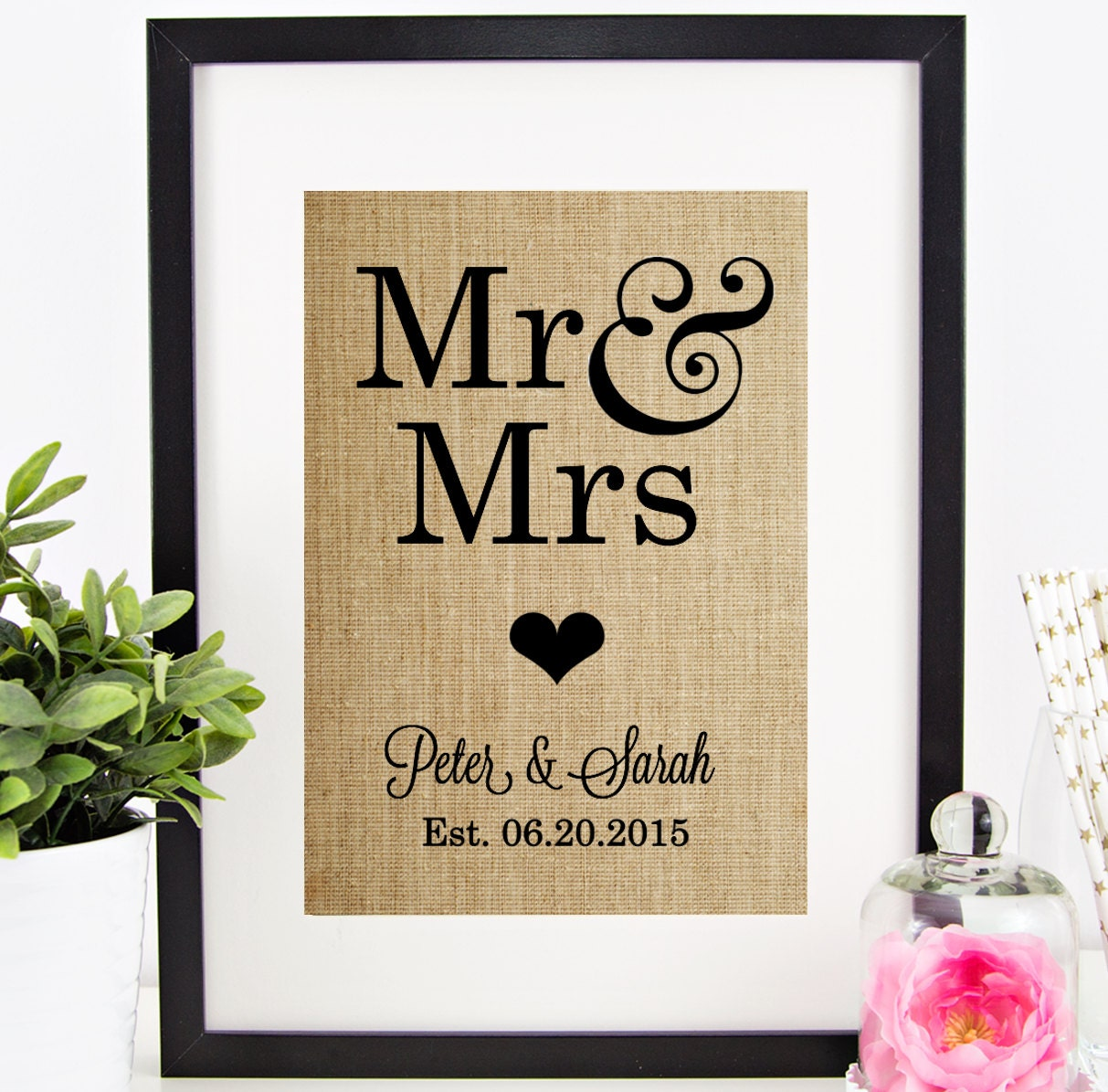 Personalized Wedding Gift MR MRS Personalized By Chathamplace