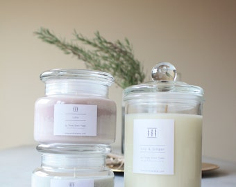 FREE SHIPPING | Mix soy candle jars gift pack | Three Silent Trees