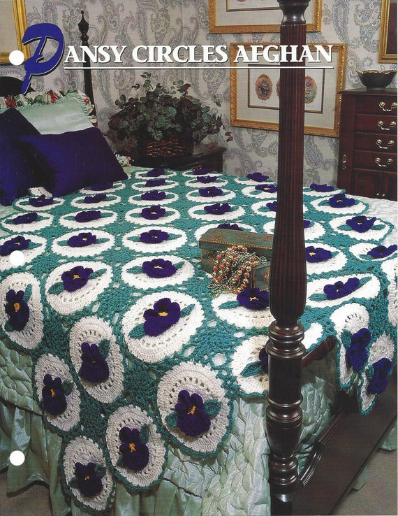 Pansy Circles Afghan Annies Crochet Quilt & Afghan