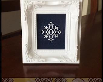 Snowflake #2 Cross Stitch PDF Pattern - Immediate Download from Etsy - Christmas Winter Series SugarStitch