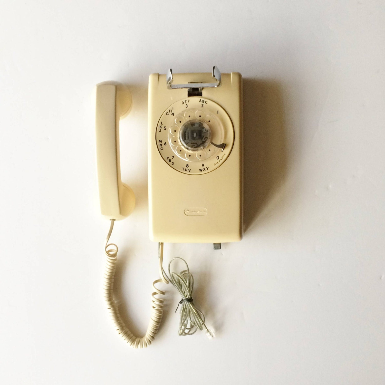 Vintage Rotary Wall Phone Western Electric Model 554 for Bell