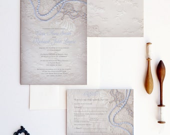 Fairytale wedding invitation - Fairytale princess wedding invitation - Royal fairytale invitation {Reno grey version}