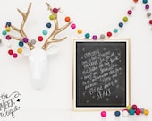 INSTANT DOWNLOAD, Charlie Brown Christmas Quote, No. 185