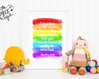 INSTANT DOWNLOAD, Somewhere Over the Rainbow, Printable, Digital Art, No. 508