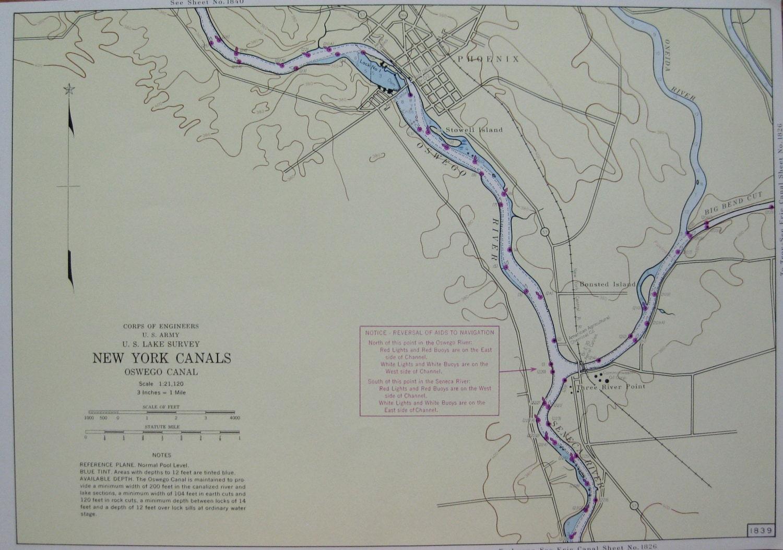 PHOENIX New York Map Neat Maritime Canal Map By Plaindealing